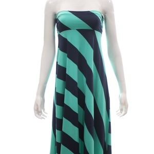 LILLY PULITZER STRIPED STRAPLESS MAXI DRESS SIZE S